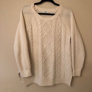Madewell 100% Merino Wool Cable Knit Sweater Sz M